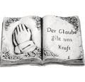 Grabschmuck Buch mit Trauerspruch