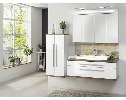 Waschbeckenunterschrank Fackelmann Stanford weiß hochglanz 41x110x50 cm ohne Waschbecken