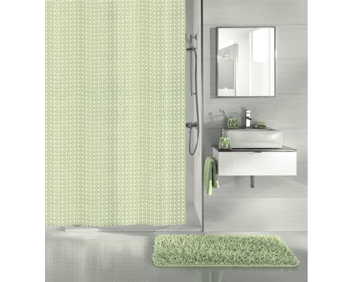 Duschvorhang Kleine Wolke Dots grün 180x200 cm