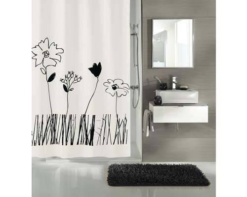 Duschvorhang Kleine Wolke Grace schwarz-weiß 180x200 cm