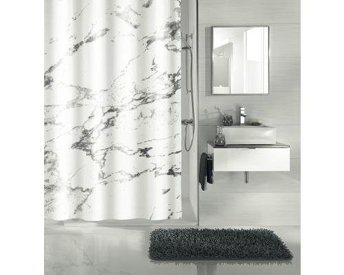 Duschvorhang Kleine Wolke Marble grau 180x200 cm