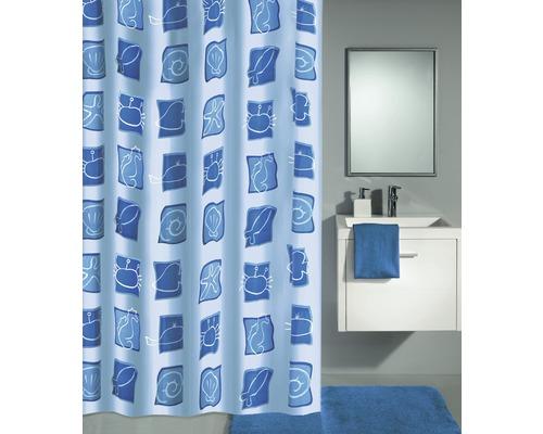 Duschvorhang Kleine Wolke Sealife blau 180x200 cm