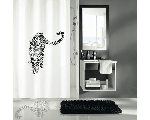 Duschvorhang Kleine Wolke Wildcat schwarz-weiß 180x200 cm