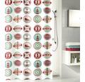 Duschvorhang Kleine Wolke Button multicolor 180x200 cm