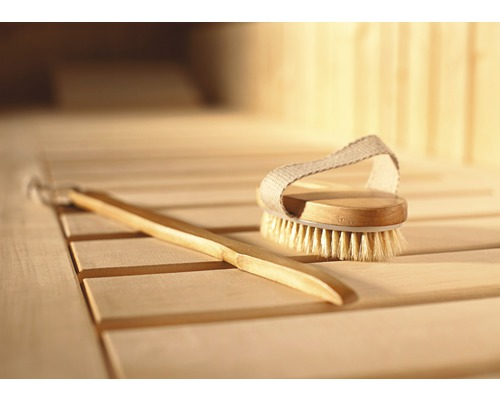 Sauna Massagebürstenset Weka 2 teilig