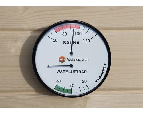 Sauna Doppelhygrometer Weka Ø 160 mm mit 2 Anzeigetafeln