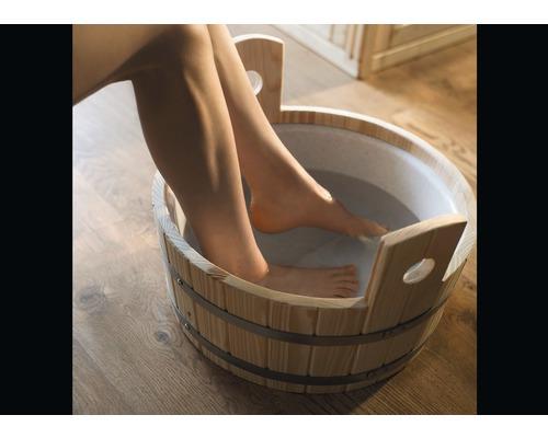 Fußkübel Weka Ø 37 cm aus Holz mit Kunststoffeinsatz