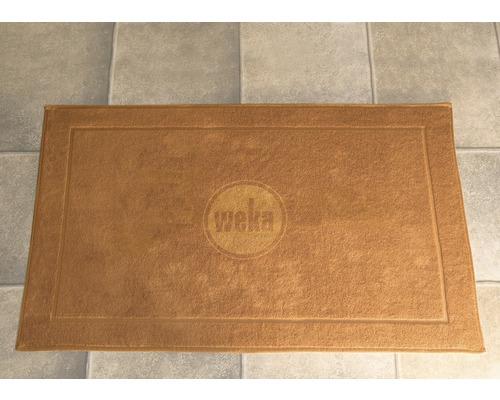 Sauna Bodenmatte Weka 90x60 cm beige