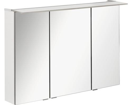 LED-Spiegelschrank Fackelmann b.perfekt 100x69x15 cm 3-türig weiß