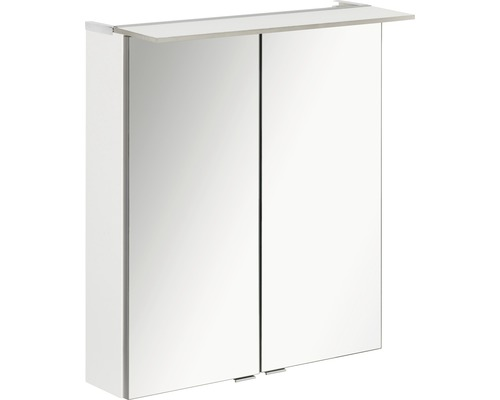 LED-Spiegelschrank Fackelmann b.perfekt 60x69x15 cm 2-türig weiß