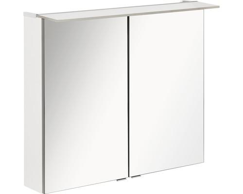 LED-Spiegelschrank Fackelmann b.perfekt 80x69x15 cm 2-türig weiß