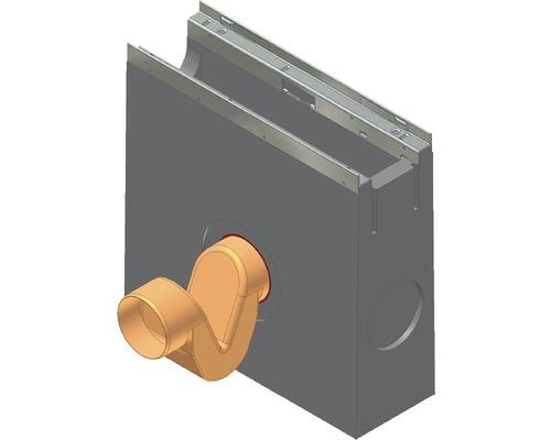 Hauraton Faserix KS 100 Geruchsverschluss Kunststoff orange NW 100 mm