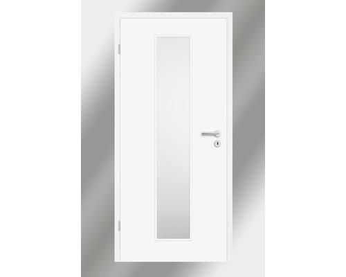Innentüre Pertura Yori Weiß inkl. Lichtausschnitt (ohne Glas) 85x203 cm links