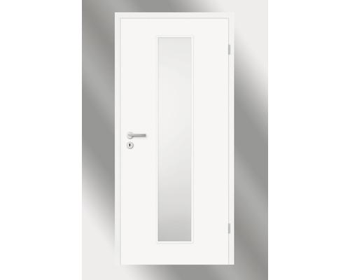 Innentüre Pertura Yori Weiß inkl. Lichtausschnitt (ohne Glas) 85x203 cm rechts