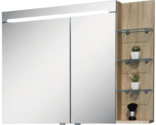 Spiegelschrank Marlin 3070 100x75,2x17,5 cm 2-türig Eiche natur