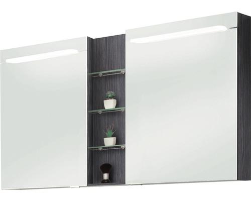 Spiegelschrank Marlin 3070 140x75,2x13,6 cm 2-türig Robinie dunkel