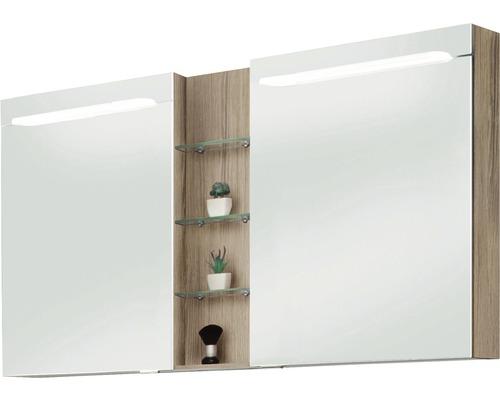 Spiegelschrank Marlin 3070 120x75,2x17,5 cm 2-türig Eiche natur