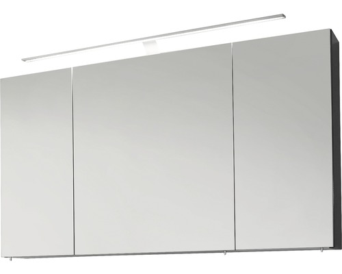 Spiegelschrank Marlin 3040 120x68,2x17,5 cm 3-türig anthrazit glänzend