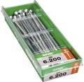 Spax Universalschraube Senkkopf Stahl gehärtet T 30, Holz-Teilgewinde 6x200 mm, 20 Stück