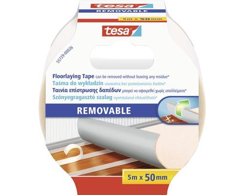 Tesa Verlegeband rückstandslos entfernbar weiß 50 mm x 5 m