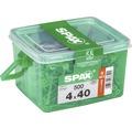 Spax Universalschraube Senkkopf Stahl gehärtet T 20, Holz-Teilgewinde 4x40 mm, 500 Stück in Henkelbox