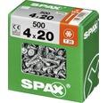 Spax Universalschraube Senkkopf Stahl gehärtet T 20, Holz-Vollgewinde 4x20 mm, 500 Stück