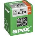 Spax Universalschraube Senkkopf Stahl gehärtet T 20, Holz-Vollgewinde 4x20 mm, 300 Stück