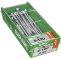 Spax Universalschraube Senkkopf Stahl gehärtet T 40, Holz-Teilgewinde 8x120 mm, 20 Stück