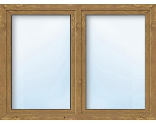 Kunststofffenster 2.Flg.mit Stulppfosten ARON Basic weiß/golden oak 1100x1200 mm