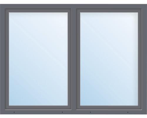 Kunststofffenster 2.Flg.mit Stulppfosten ARON Basic weiß/anthrazit 1250x750 mm