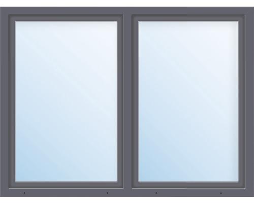 Kunststofffenster 2.Flg.mit Stulppfosten ARON Basic weiß/anthrazit 1450x500 mm
