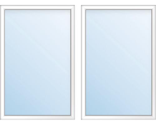 Kunststofffenster 2.Flg.mit Stulppfosten ESG ARON Basic weiß 1400x1600 mm