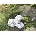 Gartenfigur Hund H 18 cm, weiß