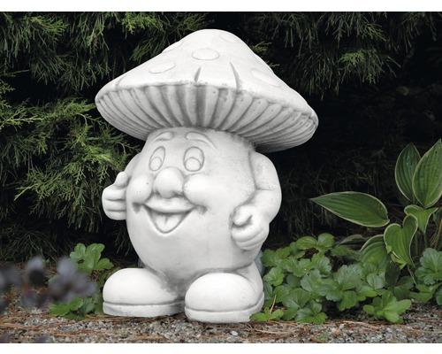 Gartenfigur Pilz H 32 cm, weiß