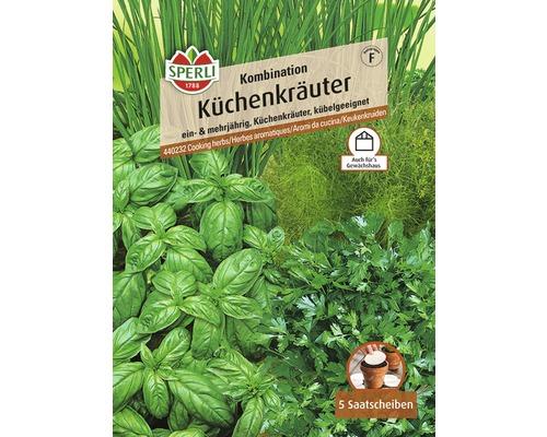 Kräutersamen Sperli Küchenkräuter-Mix, 5 Saatscheiben