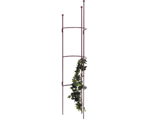 Halbrundspalier Cosmea S 120x26,5x14 cm bordeaux-metallic