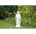 Gartenfigur Buddha H 91 cm, weiß