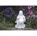 Gartenfigur Buddha H 30 cm, weiß