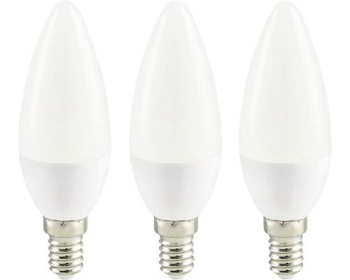 LED Kerzenlampe weiß E14/3,6W(25W) 250 lm 2700 K warmweiß 3 Stück