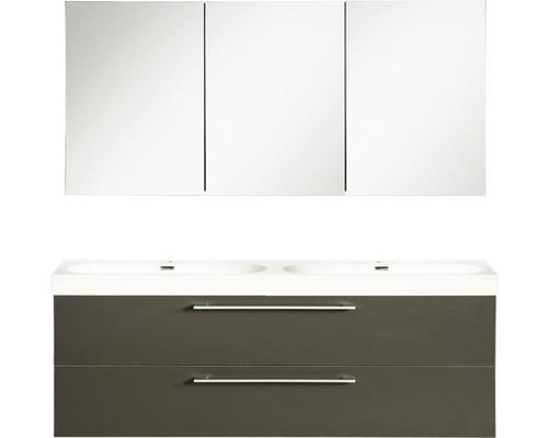 Badmöbel-Set Somero 120x120x38 cm anthrazit