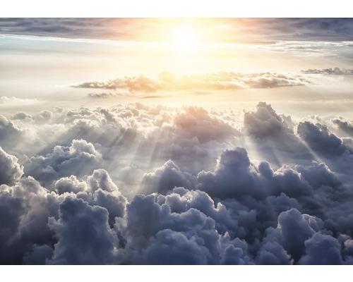 Fototapete Papier Wolken blau grau 254 x 184 cm