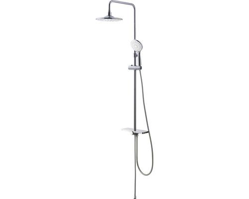 Duschsystem Avital mit Umsteller und Ablage chrom