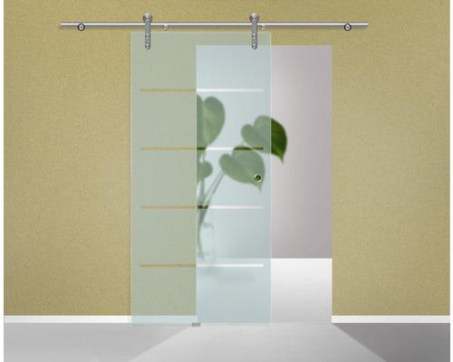 Glasschiebetürblatt Pertura 4-Streifendesign 2043x920x8 mm für Beschlag Tildra,Tinna,Lilja links