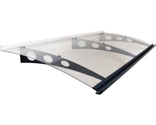 Vordach ARON Protega 205x90,5 cm anthrazit Polycarbonat transparent
