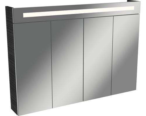Spiegelschrank Fackelmann Lino 110x78,5 cm 4-türig Dark Oak