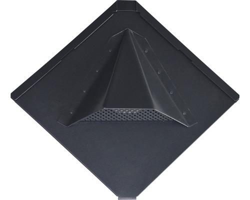 PRECIT Aluminium Lüftungsschindel Quadra anthracite grey RAL 7016 316 x 316 x 0,7 mm