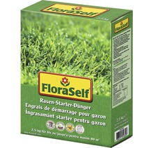 Rasen-Starterdünger FloraSelf, 2,5 kg / 80 m²
