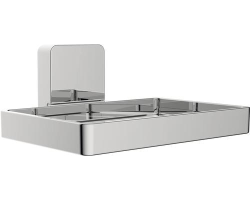 Seifenschale Reika Ovaro magnetisch chrom ohne Montageplatte