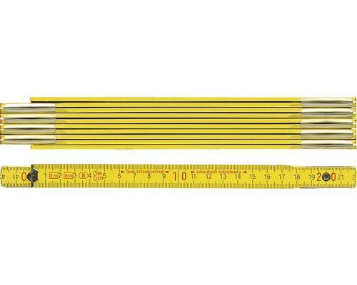 Meterstab Holz 2 m gelb