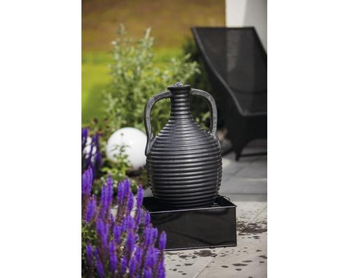 Gartenbrunnen Heissner Zinc-Combi Amphore 38x38x67 cm anthrazit
